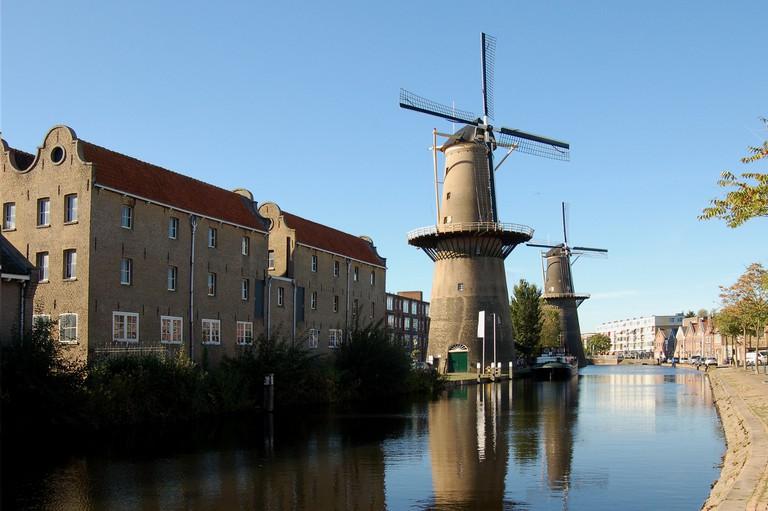 The windmills in Schiedam are gigantic