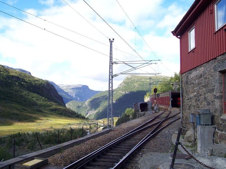 The Flåmsbana, part of the Bergen Line, has been voted one of the world's most beautiful railways