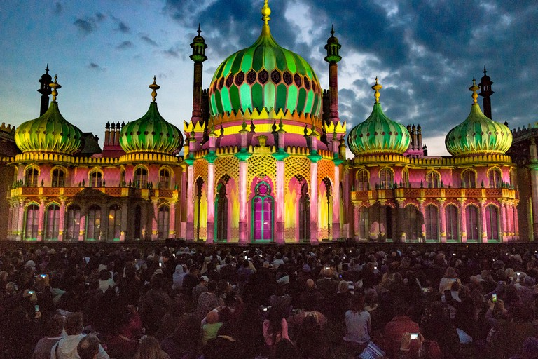 Spectacular light show at Royal Pavilion