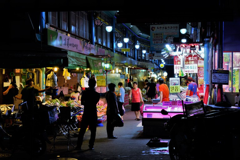 A night market in Incheon