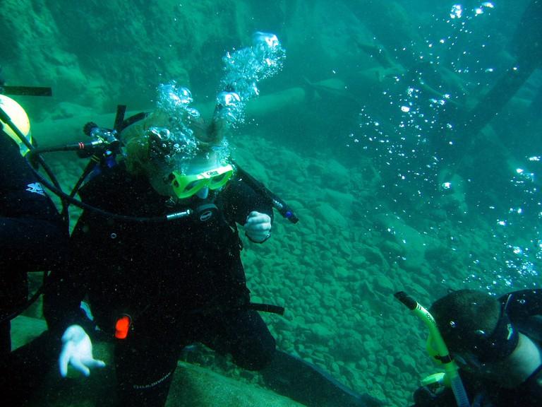 Underwater at Vortex Spring