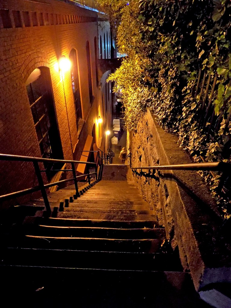 """""""The Exorcist"""" stairs at night"""