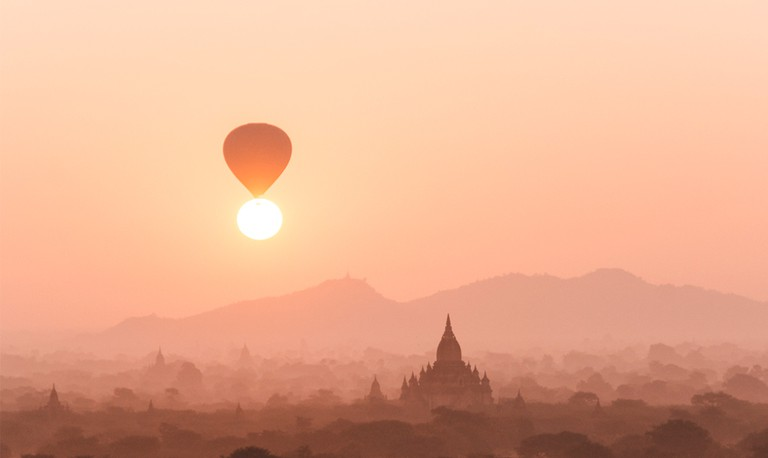 Saffron mornings in Bagan, Myanmar