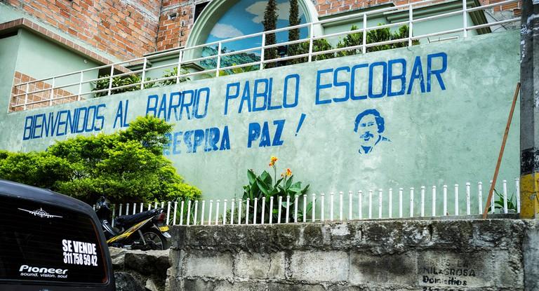 Pablo's old neighborhood in Medellín