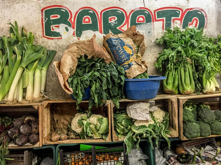Vegetables at a Mayan market