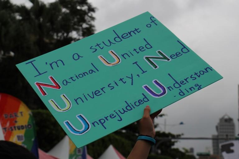 Sign at Taipei Pride