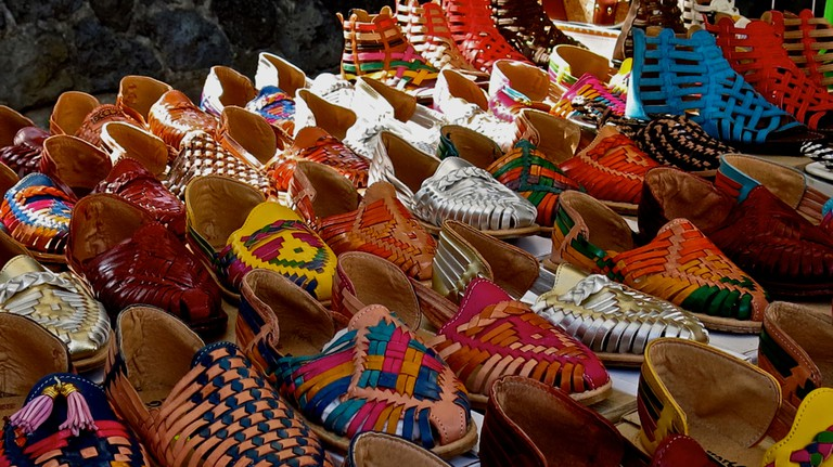 Shoes in the market