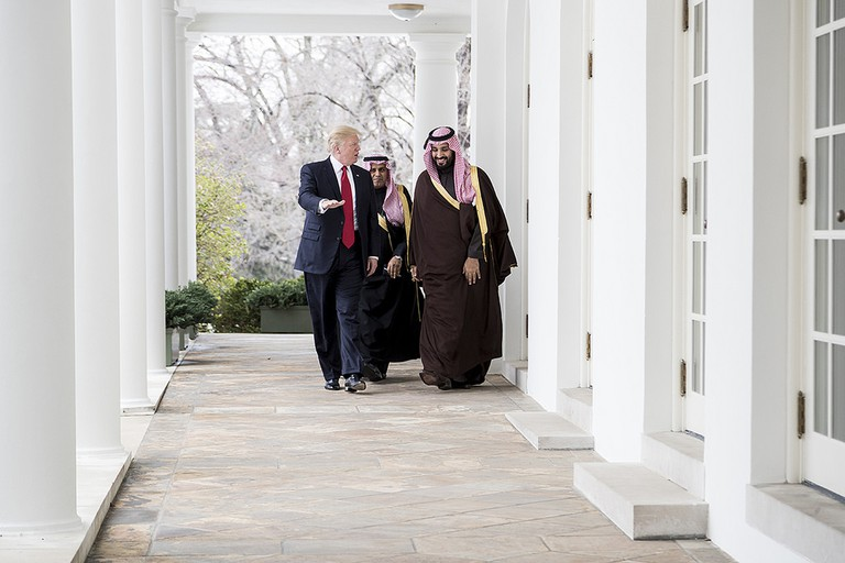 President Donald Trump walks with Mohammed bin Salman bin Abdulaziz Al Saud, Deputy Crown Prince and Minister of Defense of the Kingdom of Saudi Arabia | © The White House
