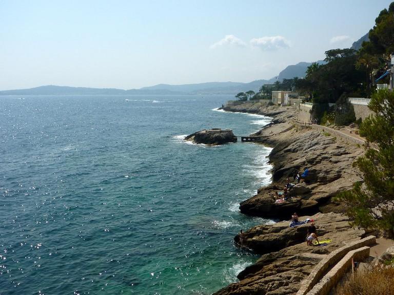 French Riviera near Monaco