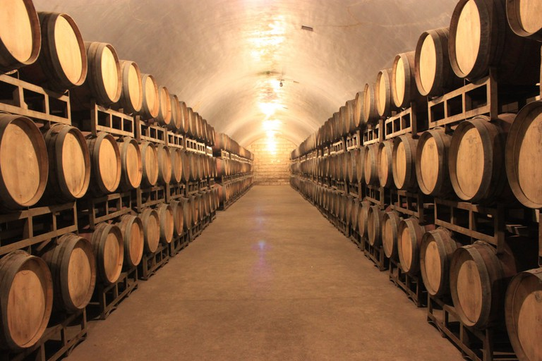 Wine casks in Shandong, China