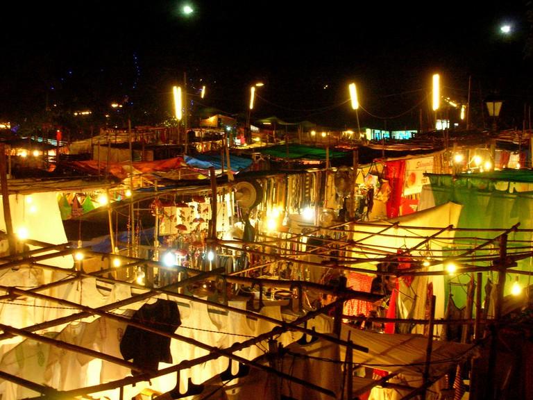 The Saturday night market at Arpora