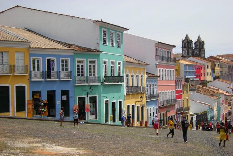 Salvador, Brazil in pastel hues