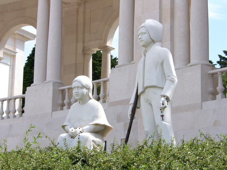 Statues of the Marto siblings in Fátima