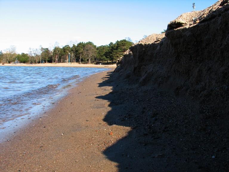 High tide at Hietaranta beach