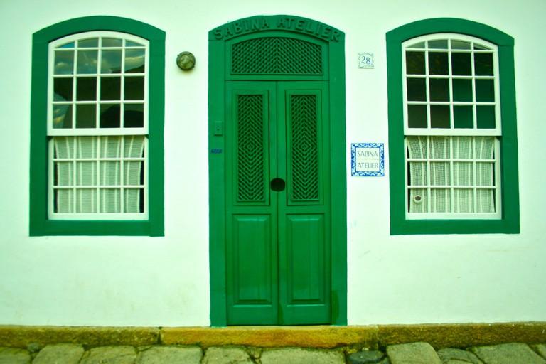 Green-hued Paraty, Brazil