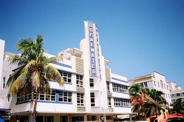 Art Deco Breakwater Hotel on Ocean Drive