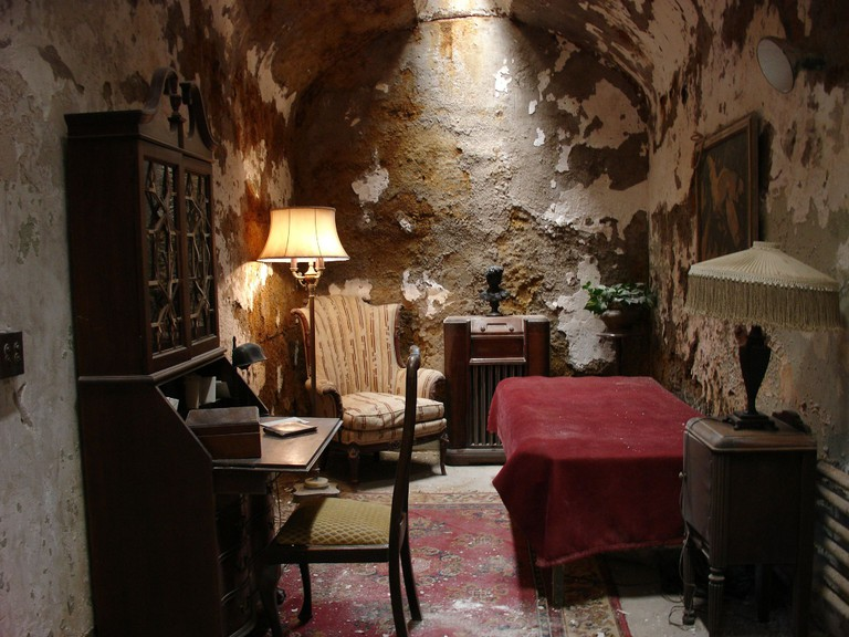 Capone's cell at Eastern State Penitentiary