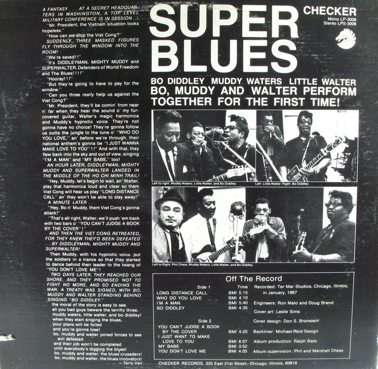 Phil Chess on the cover of Super Blues on Chess subsidiary Checker Records