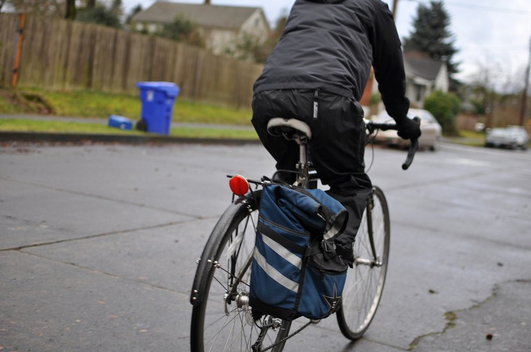Biker on Prescott Street | © Brian Duval/Flickr
