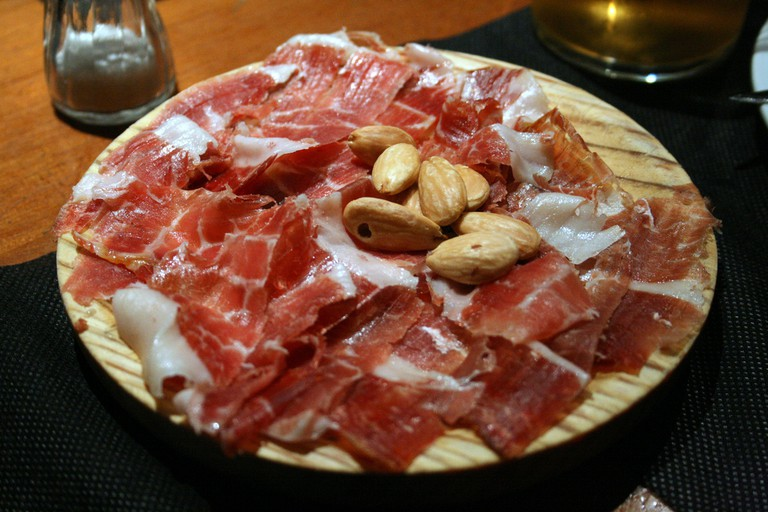 A plate of jamon