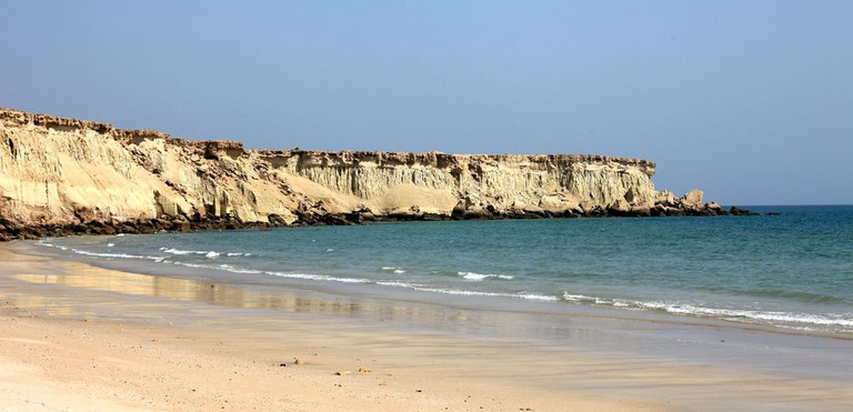 Empty beach in Qeshm