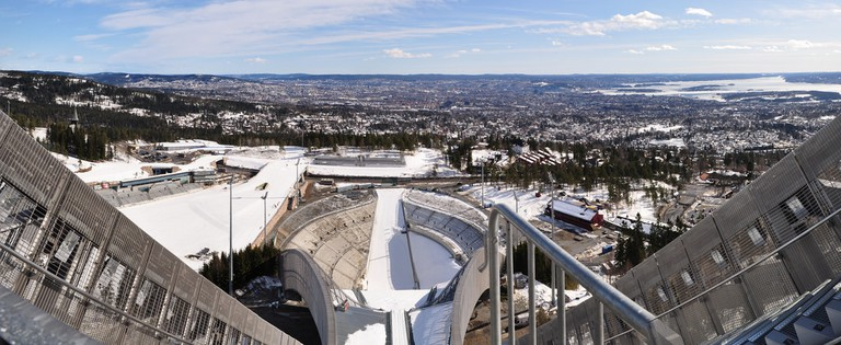 View from the top of the Holmenkollen ski jump