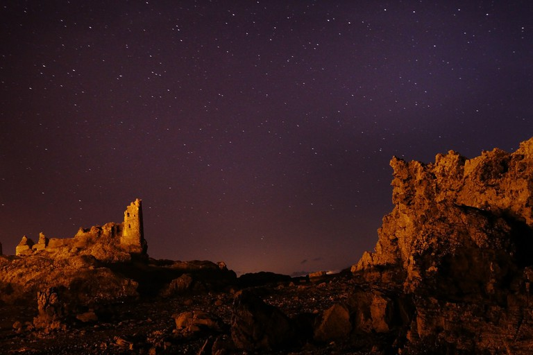 Stars Above Dunure Castle