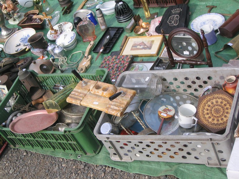 Rummage for finds at the flea market
