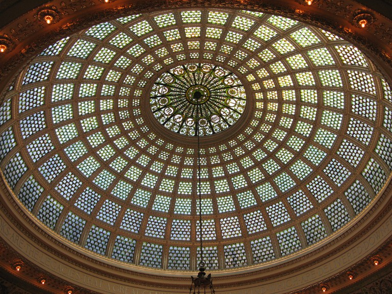 The Chicago Cultural Center's Tiffany dome