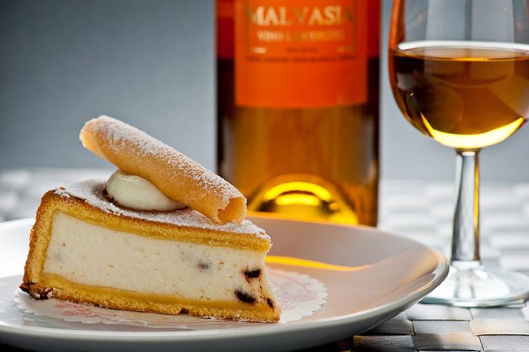 Slice of cassata