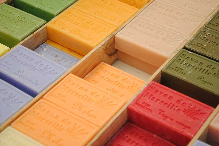 The soap is absolutely wonderful here and is made locally