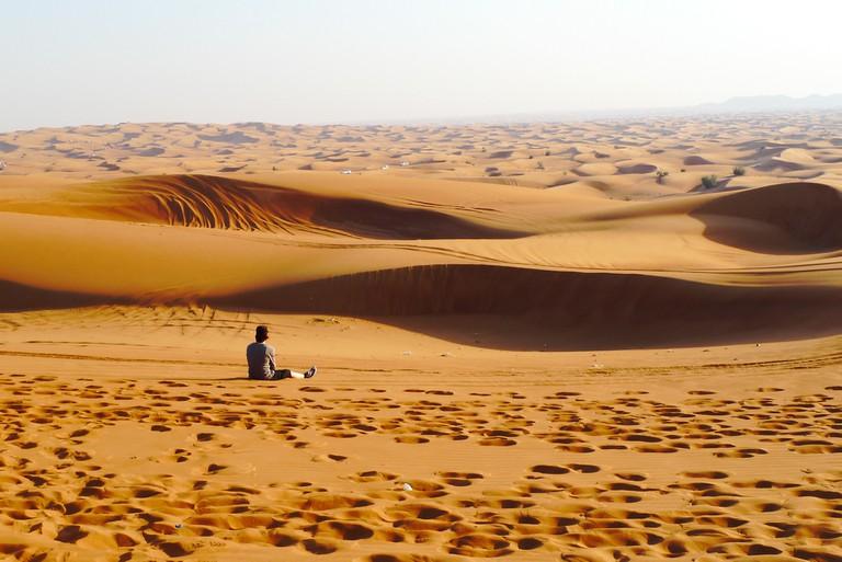 The sand dunes of Dubai