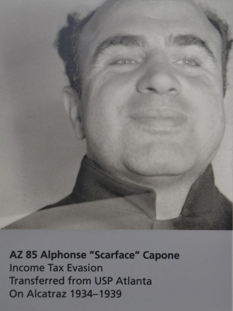 Al Capone's Alcatraz mugshot