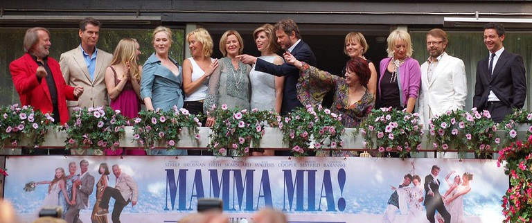 Abba reunited on balcony of Hotel Rival