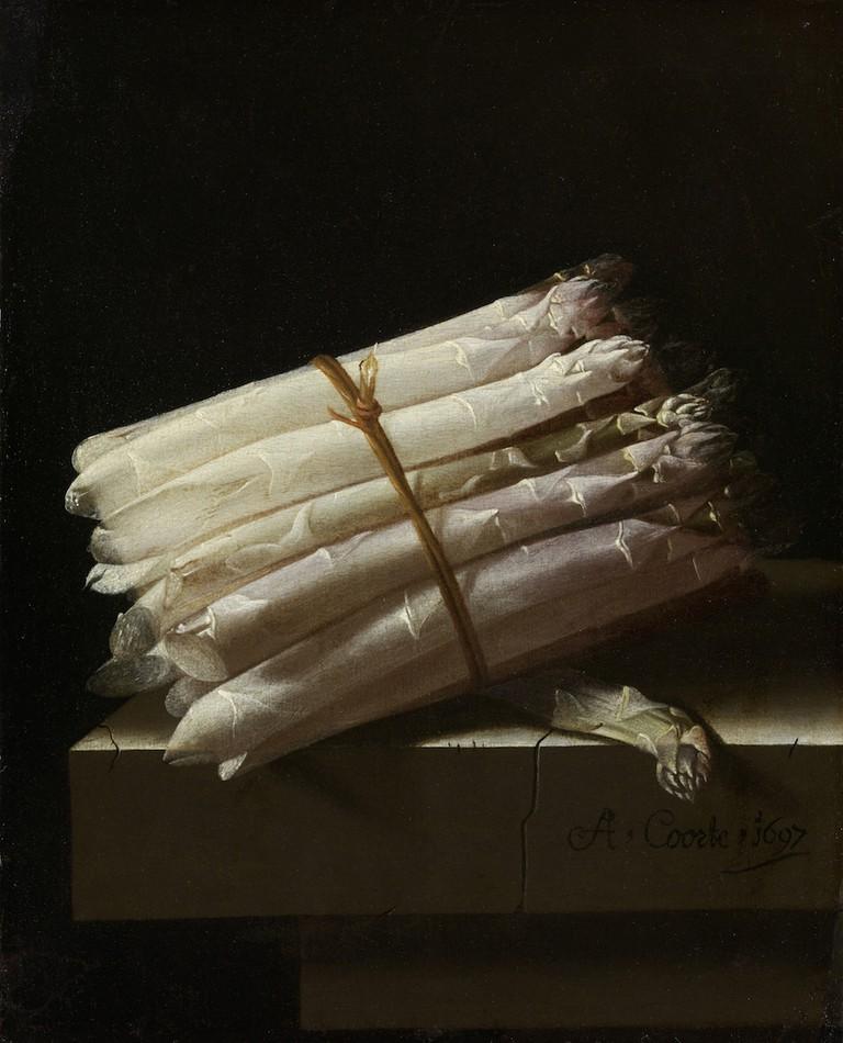 Adriaen Coorte, Still Life with Asparagus, 1697