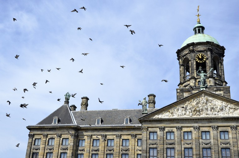 The Royal Palace is located on Dam Square