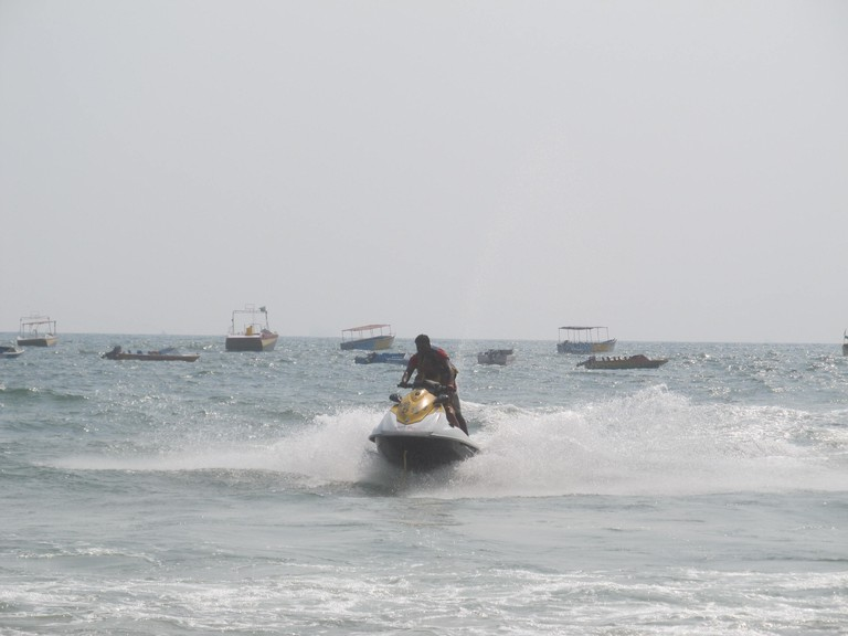 Jet-skiing at Baga Beach