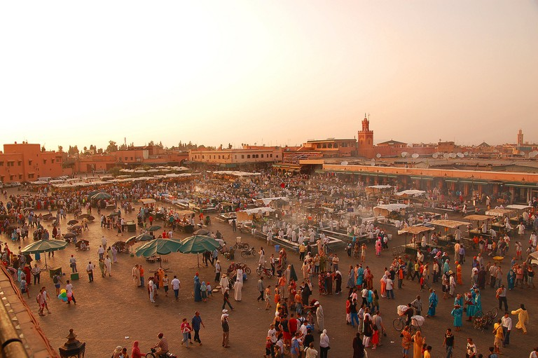 Djemaa el-Fna, the main square in Marrakech