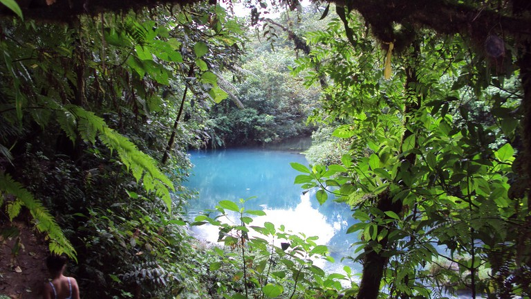 Rio Celeste is blue like the sky