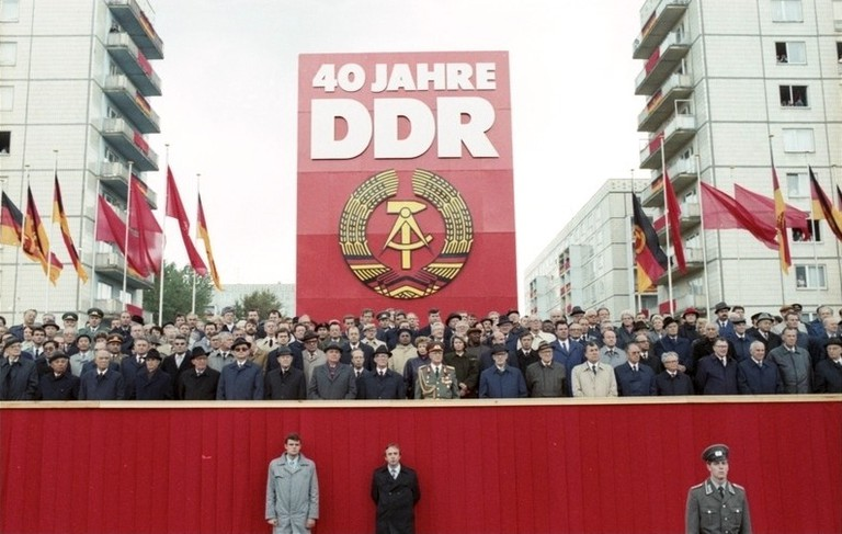 Berlin in 1989, at the 40th anniversary GDR foundation