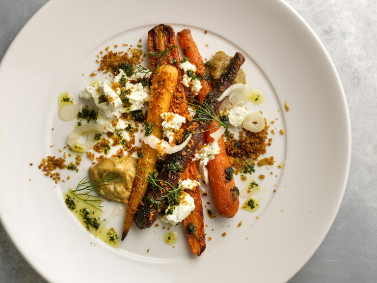 Roast carrots with Knockalara cheese at Café Paradiso | © CristianBarnett/Courtesy of Café Paradiso