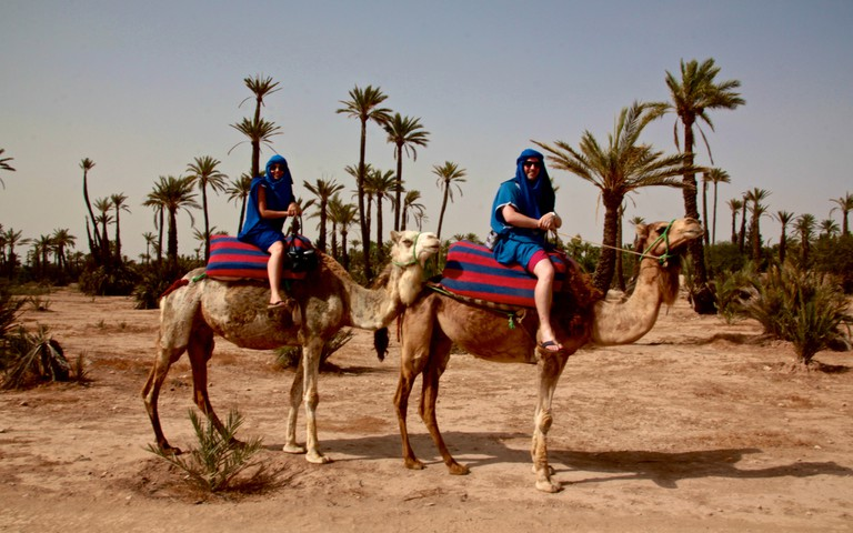 Camel riding at Palmeraie