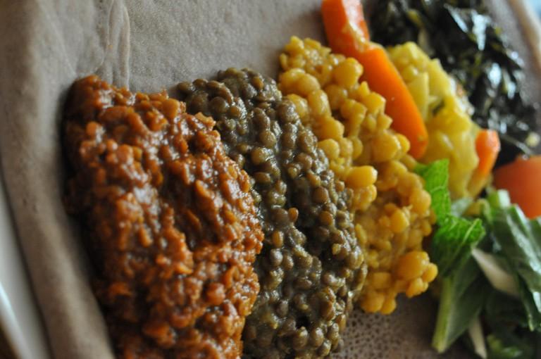 Vegetarian platter at Chercher