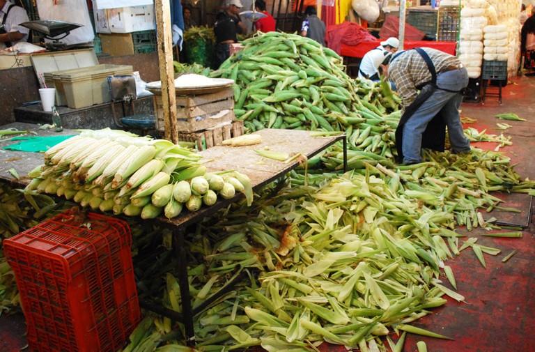 Corn on the cob at La Merced, Mexico City