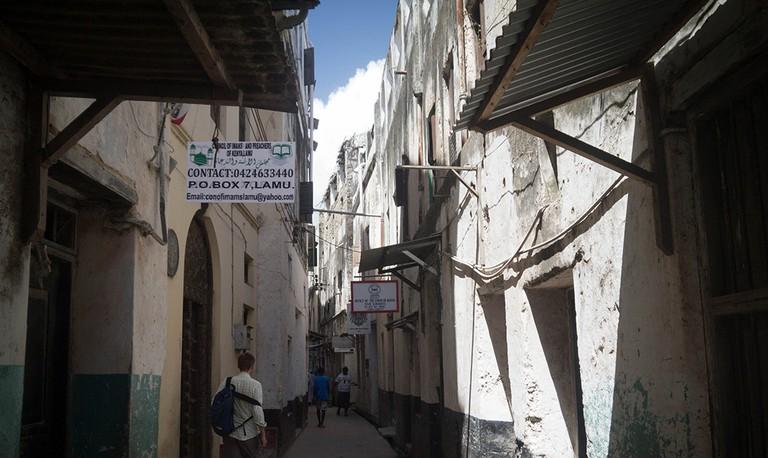 Narrow streets of Lamu | ©Jennifer Wu/ Flickr