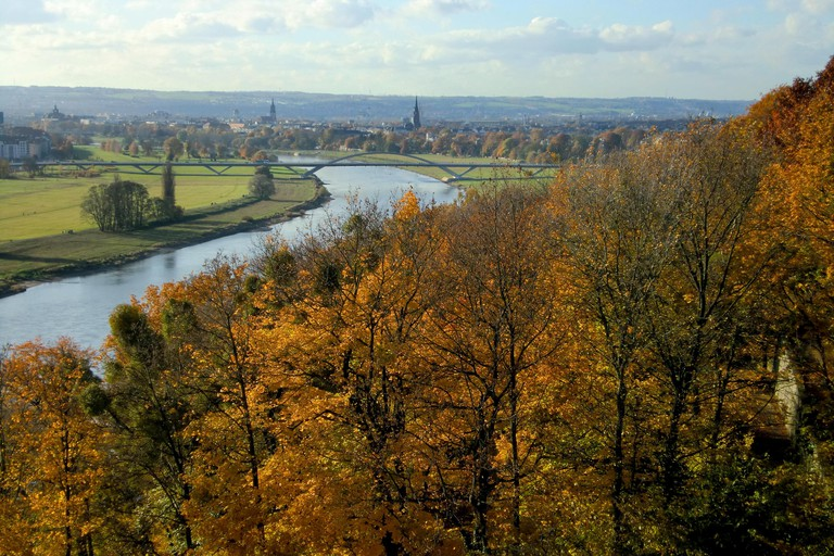 The Elbe Valley with the Waldschlösschen Bridge, the building of which cost the region its UNESCO World Heritage List