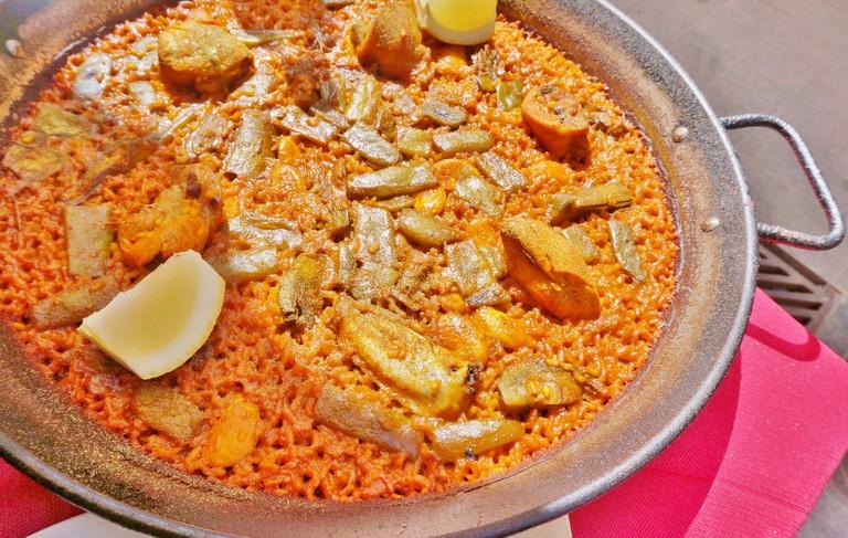 Paella Valenciana at Yuso   Courtesy of Clare Speak