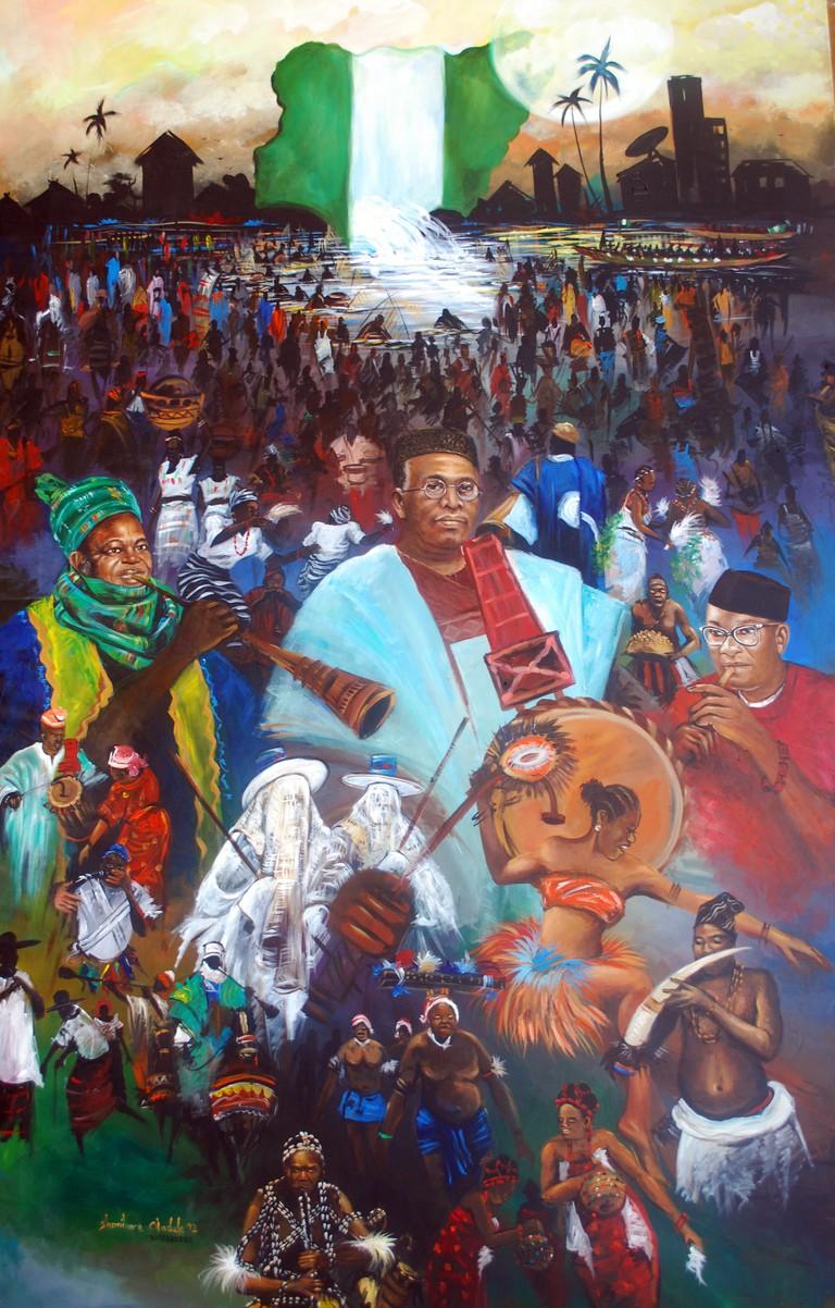 """""""Sunrise Nigeria,"""" by Shonibare Oladele"""