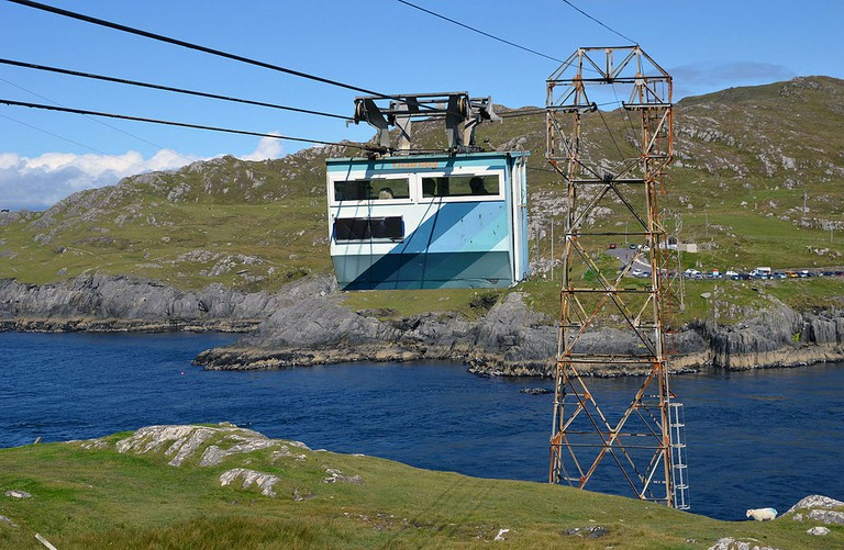 Cable car connecting the Beara Peninsula and Dursey in West Cork