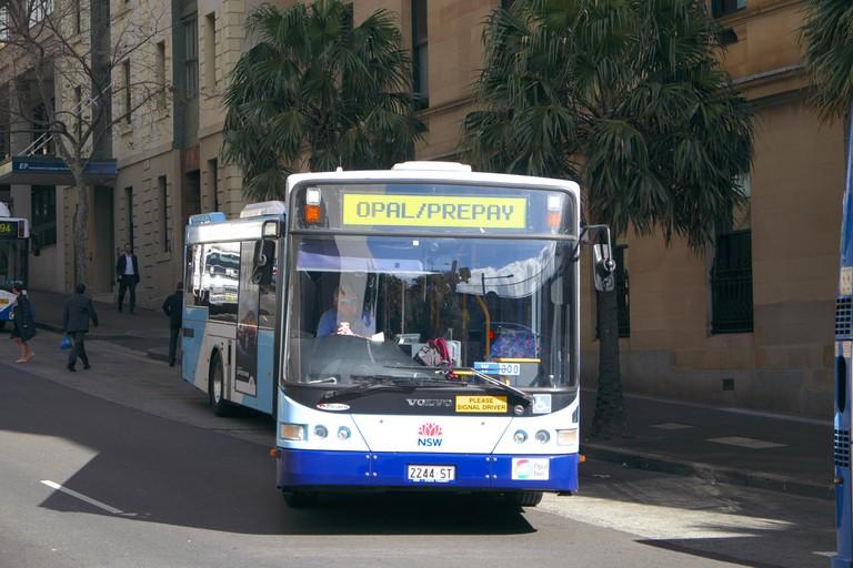 Bus at Circular Quay, Sydney